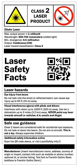 class 2 labels laser safety facts